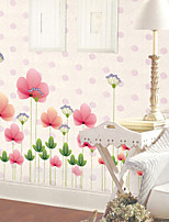 cheap -creative removable living room bedroom skirting decorative wall stickers and flower bushes