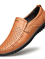 cheap -Men's Loafers & Slip-Ons Business Casual Daily Nappa Leather Light Brown Dark Brown Black Fall Spring