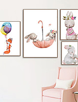 cheap -Wall Art Canvas Prints Painting Artwork Picture Nursery Cartoon Animal Home Decoration Decor Rolled Canvas No Frame Unframed Unstretched
