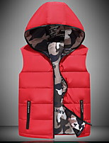 cheap -Men's Hoodie Jacket Quilted Puffer Vest Down Vest Down Winter Outdoor Thermal Warm Windproof Lightweight Breathable Winter Jacket Trench Coat Top Skiing Fishing Climbing Sapphire Grey Black Red Navy