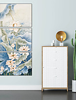 cheap -3 Panels Wall Art Canvas Prints Painting Artwork Picture Floral Tradition Lotus Home Decoration Decor Rolled Canvas No Frame Unframed Unstretched