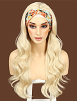 cheap -Long Body Wavy Headband Wig for Black Women No Replacement Body Wave Synthetic Headwraps Hair Wig 2021 New Fashion