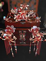 cheap -1 Piece Clothing Headwear Wedding Chinese Atmosphere Wedding Queen Stepping Phoenix Crown Bride Xiuhe Hair Accessories