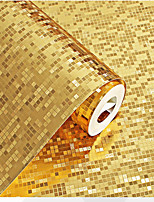 cheap -Wallpaper Wall Covering Sticker Film  Gold Mosaic Sparkly Glitter 3D Sparkly Glitter Geometry  Home Decor 53*950cm