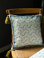 cheap -1 pcs Velvet Pillow Cover, Floral Traditional Square Zipper Traditional Classic