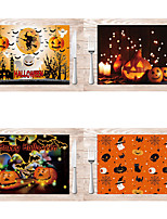 cheap -Halloween Linen Table Mat Holiday Western Food Place Mat Pumpkin Pattern Holiday Decoration