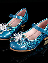 cheap -Girls' Heels Flower Girl Shoes Princess Shoes PU Wedding Sequins Little Kids(4-7ys) Big Kids(7years +) Wedding Party Party & Evening Pearl Flower Blue Silver Gold Fall Winter