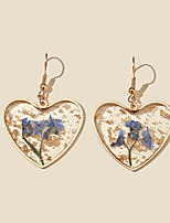 cheap -Women's Hoop Earrings Transparent Petal Rustic Vintage Classic Modern French Earrings Jewelry Blue For Party Gift Daily Club Festival 1 Pair
