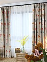 cheap -Window Curtain Window Treatments Beige 1 Panels Room Darkening Grommet Rod Pocket Solid For Living Room Bed Room