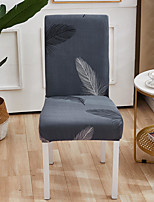 cheap -Stretch Kitchen Chair Cover Slipcover for Dinning Party  Cartoon Feather Four Seasons Universal Super Soft Fabric Retro Hot Sale