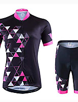 cheap -women's cycling jersey short sleeve and cycling shorts with 3d gel padding bicycle cycling breathable quick-drying jerseys set (color : a, size : xxl)