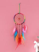 cheap -Boho Dream Catcher Handmade Gift Wall Hanging Decor Art Ornament Crafts Circle Feather For Kids Bedroom Wedding Festival 13*50-55cm