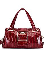 cheap -Women's Bags PU Leather Top Handle Bag Zipper Date Office & Career Handbags Orange Black Red Brown