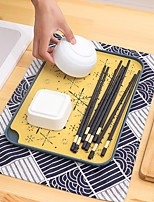 cheap -Water Cup Drainage Tray Double Layer Household Living Room Tea Tray Fruit Tray Creative Drainage Tableware Basket Rack Plastic