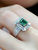 cheap -Ring 3D Silver Copper Rhinestone Gold Plated Precious Fashion 1pc 7 8 9 / Women's / Promise Ring