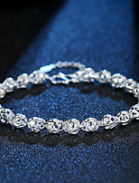 cheap -Women's Chain Bracelet Bracelet Cut Out Precious Fashion Copper Bracelet Jewelry Silver For Christmas Party Wedding Daily Work / Silver Plated