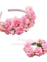 cheap -1 Piece Children's Headgear Wreath Headband Bracelet Set Simulation Flower Hair Accessories