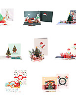 cheap -3d three-dimensional christmas greeting card exquisite creative christmas card wishing card message card foreign trade blessing thank you card
