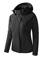 cheap -Women's Hoodie Jacket Hiking Jacket Hiking Windbreaker Winter Outdoor Solid Color Thermal Warm Waterproof Windproof Warm Outerwear Trench Coat Top Full Length Visible Zipper Skiing Fishing Climbing