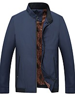 cheap -men's warm winter blend jacket stand collar windproof coat business jackets