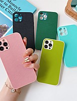 cheap -Phone Case For Apple Back Cover iPhone 12 Pro Max 11 SE 2020 X XR XS Max 8 7 Shockproof Dustproof Solid Colored PU Leather