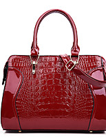 cheap -Women's Bags PU Leather Top Handle Bag Date Office & Career 2021 Blue White Black Red