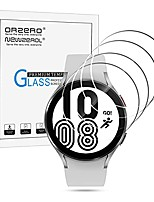 cheap -(4 pack)  tempered glass screen protector compatible for samsung galaxy watch 4 44mm, 2.5d arc edges 9 hardness high definition anti-scratch bubble-free (lifetime replacement)