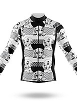 cheap -21Grams Men's Long Sleeve Cycling Jersey Spandex Polyester Grey Dog 3D Funny Bike Top Mountain Bike MTB Road Bike Cycling Quick Dry Moisture Wicking Breathable Sports Clothing Apparel / Stretchy