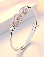 cheap -Women's Charm Bracelet Bracelet Pendant Bracelet 3D Flower Fashion Copper Bracelet Jewelry 1# / 2# / 3# For Christmas Party Wedding Daily Work / Silver Plated