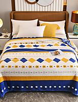 cheap -Blankets & Throws, Print / Geometric Flannel Toison Warmer Soft Comfy Blankets