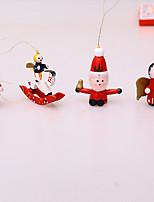 cheap -Santa Claus Christmas Tree Ornament Set Building Blocks Painted Snowman Old Man Pendant