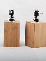 cheap -2pcs Bamboo Hotel Household Restaurant Bathroom Lotion Bottle Hand Sanitizer Shower Gel Shampoo Container