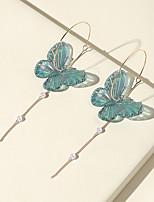cheap -Women's Drop Earrings Chandelier Butterfly Luxury Vintage Modern Cute Sweet Earrings Jewelry Green For Party Gift Daily Prom Bar 2pcs
