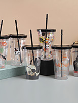 cheap -Halloween Themed Straw Cup Double-layer Insulation American Cartoon Accompanying Cup