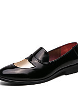 cheap -Men's Loafers & Slip-Ons Business Casual Classic Daily Faux Leather Breathable Blue Black Brown Fall