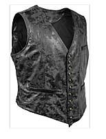 cheap -Men's Vest Gilet Street Daily Spring Summer Short Coat Regular Fit Lightweight Breathable Casual Jacket Sleeveless Solid Color Pocket Black Brown
