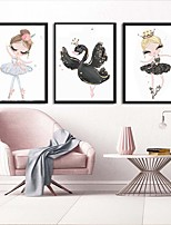 cheap -Wall Art Canvas Prints Painting Artwork Picture Nursery Cartoon Girl Home Decoration Decor Rolled Canvas No Frame Unframed Unstretched