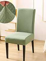 cheap -Stretch Kitchen Chair Cover Slipcover Bubble Lattice for Dinning Green Party Soft Comfortable Firm Elegant Chairs Covers