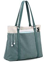 cheap -Women's Bags Canvas Top Handle Bag Zipper Solid Colored Daily Going out 2021 Canvas Bag Handbags Blue Fuchsia Gray Dark Green