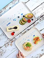 cheap -Water Tea Cup Tray Rectangular Plastic Fruit Dessert Plate Household Living Room