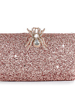 cheap -Women's Bags Polyester Evening Bag Crystals Chain Plain Party / Evening Retro Evening Bag Chain Bag Blushing Pink