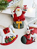 cheap -Christmas Santa Fe Snowman Elk Sleigh Pendant Christmas Tree Decoration Pendant Christmas Decoration