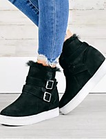 cheap -Women's Boots Round Toe PU Solid Colored Army Green Khaki Black