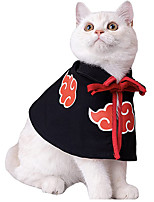 cheap -Cat Cloak Anime Ninja CostumeNaruto AkatsukiHalloween Pet ClothesPet Cloak Cosplay Party for Small Dogs Cats Clothing