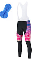 cheap -21Grams Men's Cycling Bib Tights Bike Bib Tights Quick Dry Moisture Wicking Sports 3D Pink Mountain Bike MTB Road Bike Cycling Clothing Apparel Bike Wear / Athleisure