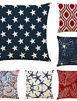 cheap -Geometric Double Side Cushion Cover 6PC Soft Decorative Square Throw Pillow Cover Cushion Case Pillowcase for Bedroom Livingroom Superior Quality Machine Washable Indoor Cushion for Sofa Couch Bed Chair