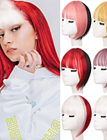 cheap -3D Two-color Stitching Air Bangs Straight Neat Bangs Clip In Hair Extensions Bangs Invisible Seamless Head Hairpieces
