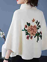 cheap -3/4 Length Sleeve Ladies / Elegant Imitation Cashmere Party Evening / Wedding Party Women's Wrap With Embroidery