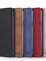 cheap -Phone Case For Apple Full Body Case iPhone 12 Pro Max 11 SE 2020 X XR XS Max 8 7 6 Card Holder Shockproof Dustproof Solid Colored PU Leather