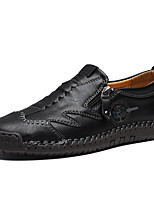 cheap -Men's Loafers & Slip-Ons Comfort Shoes British Daily Walking Shoes Cowhide Shock Absorbing Wear Proof Light Brown Dark Brown Black Fall Spring